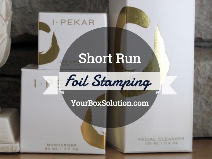 Short Run Foil Stamping Custom Boxes