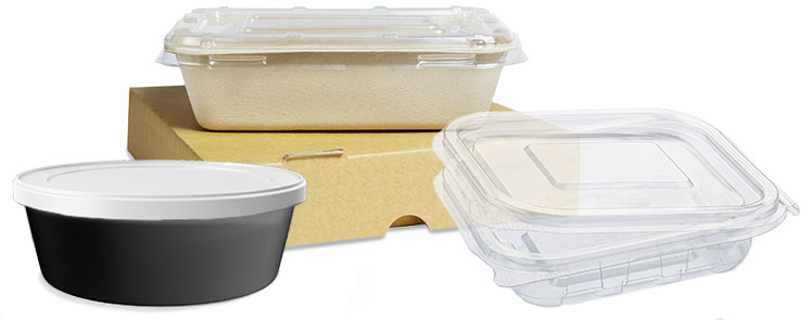 Blank food containers