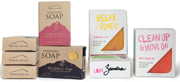 Custom printed soap boxes with cutouts