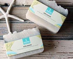 Soap packaging sleeves with marine theme