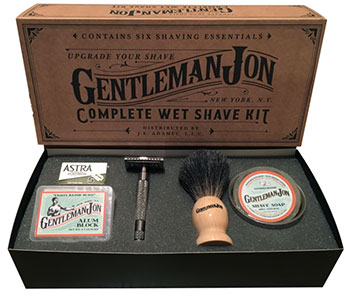 Shaving kit packaging sleeve