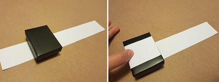 How to measure a box sleeve - step 2