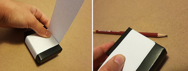How to measure a box sleeve - step 3