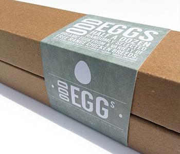 Egg crate packaging sleeve