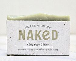 Simple soap packaging sleeve