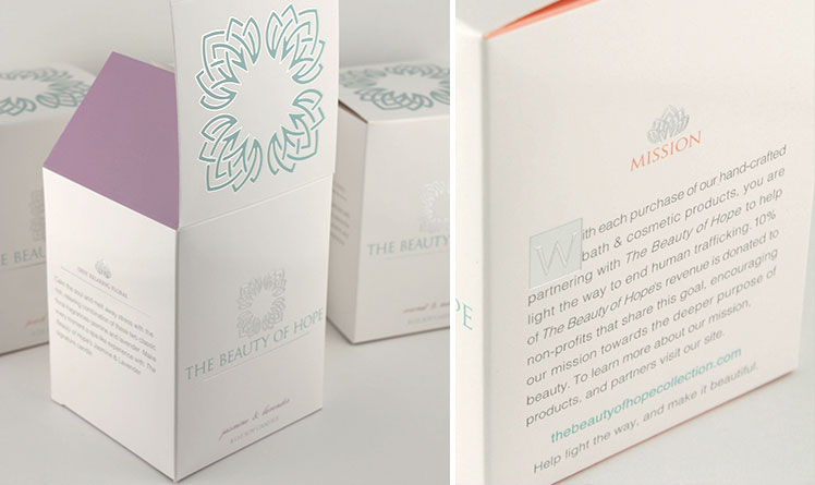 Candle packaging with silver foil