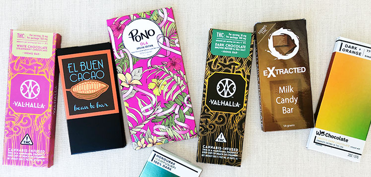Chocolate bars packaging