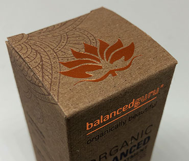 Kraft box with copper foil