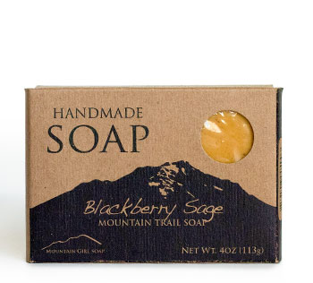 Soap kraft box with black print