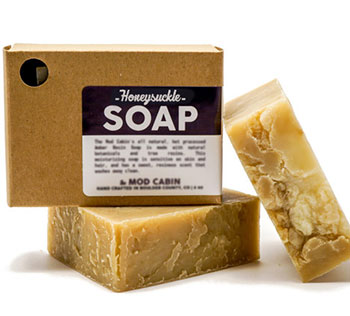 Kraft soap box with label