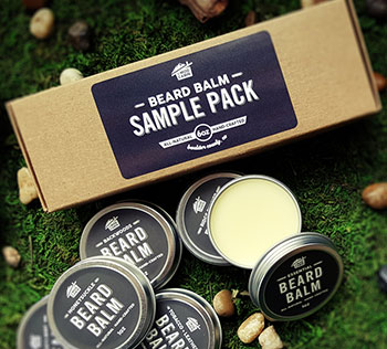 Beard balm kraft box with label