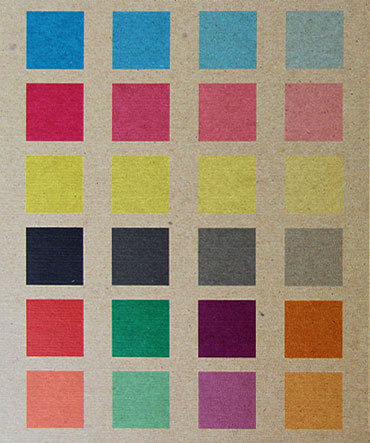 Color reference on kraft paper