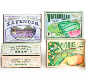 Multiple design versions for soap boxes at bulk prices