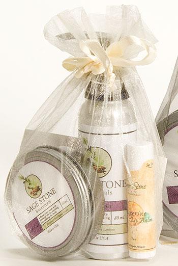 Sage stone botanicals skincare packaging