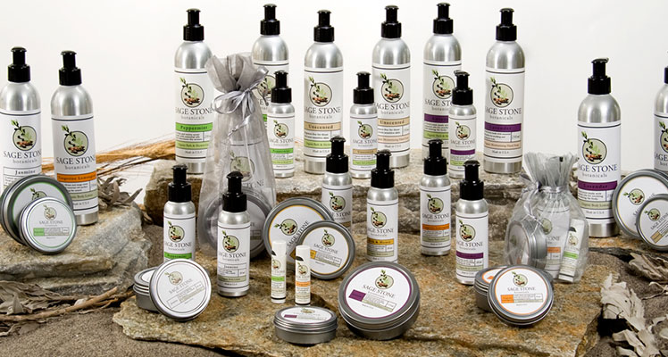 Cosmetic labels for Sage Stone Botanicals
