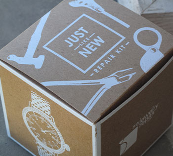 Kraft boxes with white ink printing