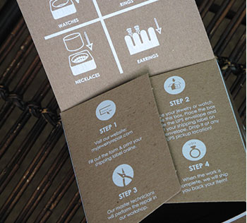 Kraft box with white ink printing