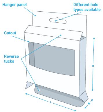 Custom 5 panel hanger box