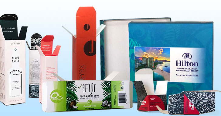 Different types of folding cartons
