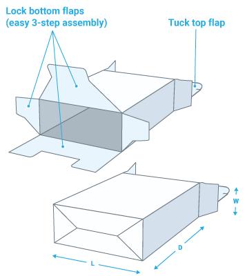 Lock bottom box folding carton