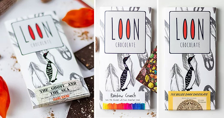 Illustrated chocolate bar box