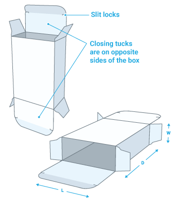 Reverse tuck box