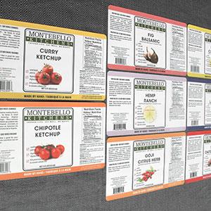 Custom ketchup labels