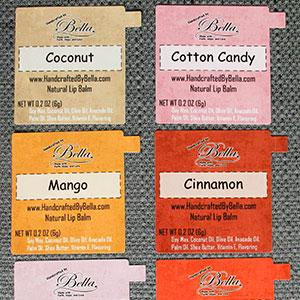 Custom lip balm labels