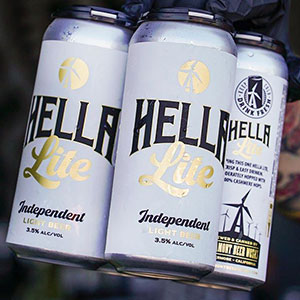 Crowler label with gold foil