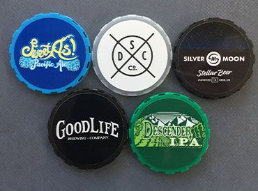 Keg cap labels