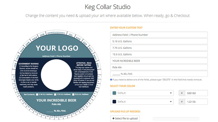 Online keg collars studio