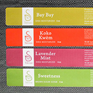 Cream box labels