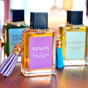 Perfume packaging labels