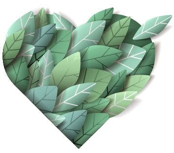 Recycle green heart