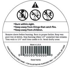 Cautionary label