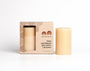 Pillar candle packaging