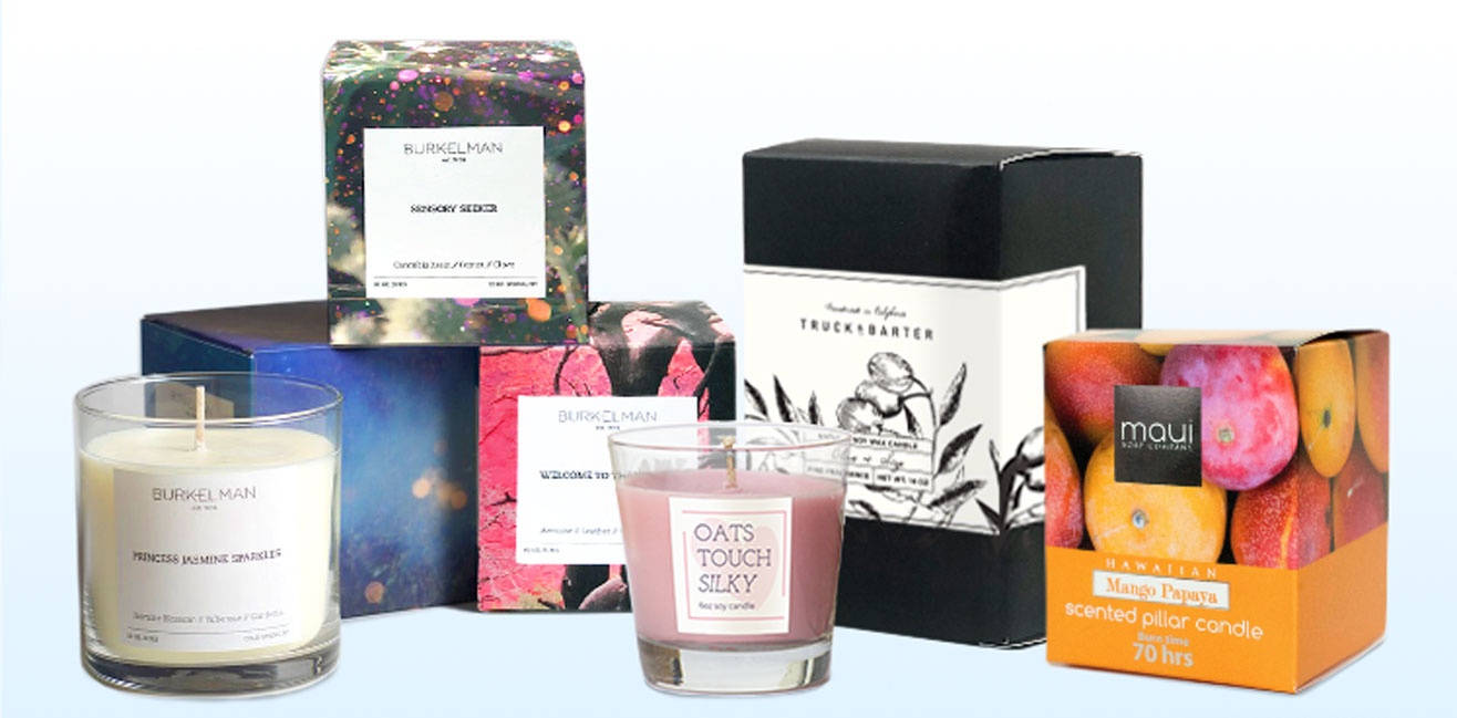 Candle packaging images