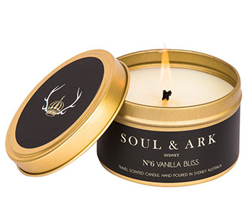 Soul & Ark golden tin candle