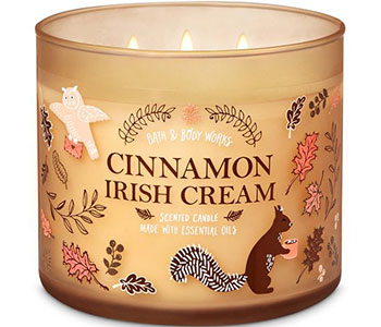 Special cinnamon candle-label