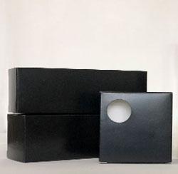 Blank black boxes
