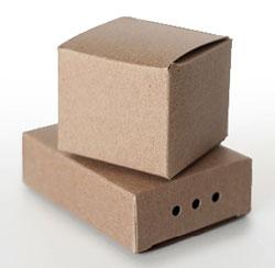 Blank kraft boxes