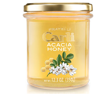 acacia honey label with image