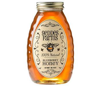 blueberry honey jar label