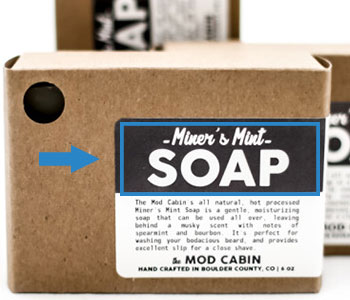 name-of-soap on label