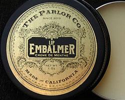 gold-foil lip balm label