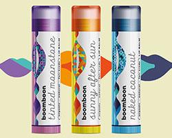 colorful lip balm labels