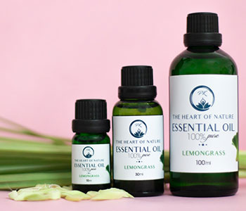bottles of essential oil-labels