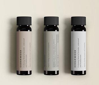 3-vials-of-essential oil labels-Cedarwood