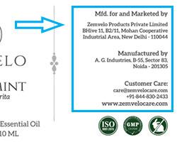 essential oil label details