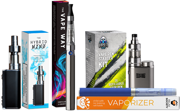 Vape pen packaging presentation